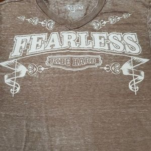 Open Trails Shirts - Open Trails Fearless Ride Hard Burn Out Tee